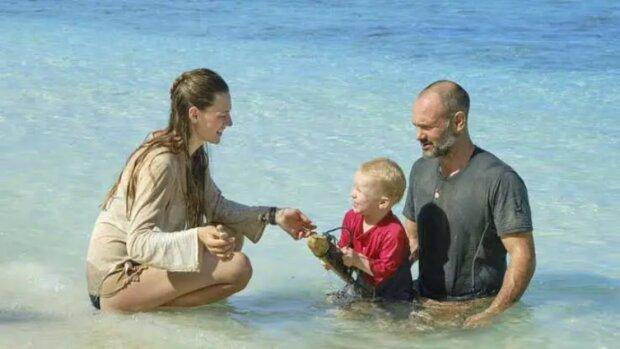 Eine Robinson-Familie: Ed Stafford brachte seine Frau und seinen zweijährigen Sohn auf eine unbewohnte Insel