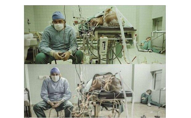 Dreiundzwanzig Stunden nach der Operation hat der Chirurg seinen Patienten nicht für eine Sekunde verlassen