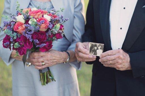 Ein Hochzeitsfotoshooting, auf das seit 70 Jahren gewartet wird