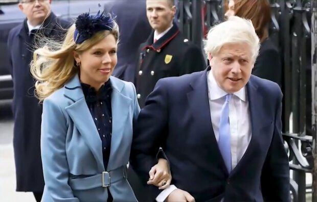 Carrie Symonds und Boris Johnson. Quelle: Screenshot Youtube