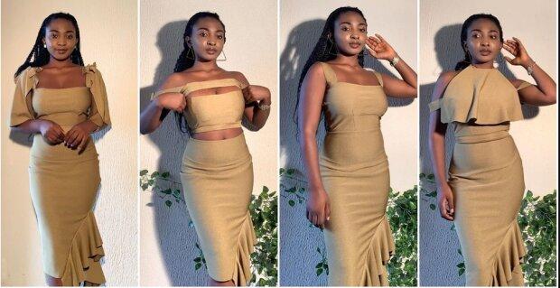 Verschiedene Looks aus einem einzigen Kleid: Designerin zeigte ein Transformer-Outfit